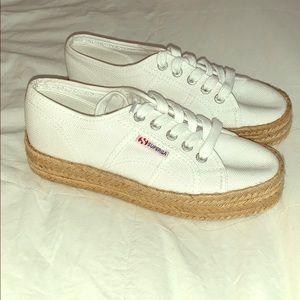 Superga platform sneakers never worn